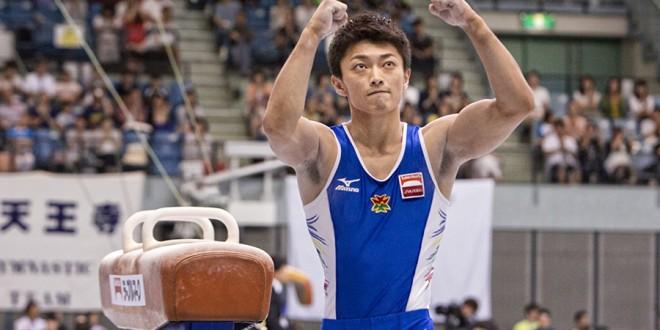 亀山選手のガッツポーズ