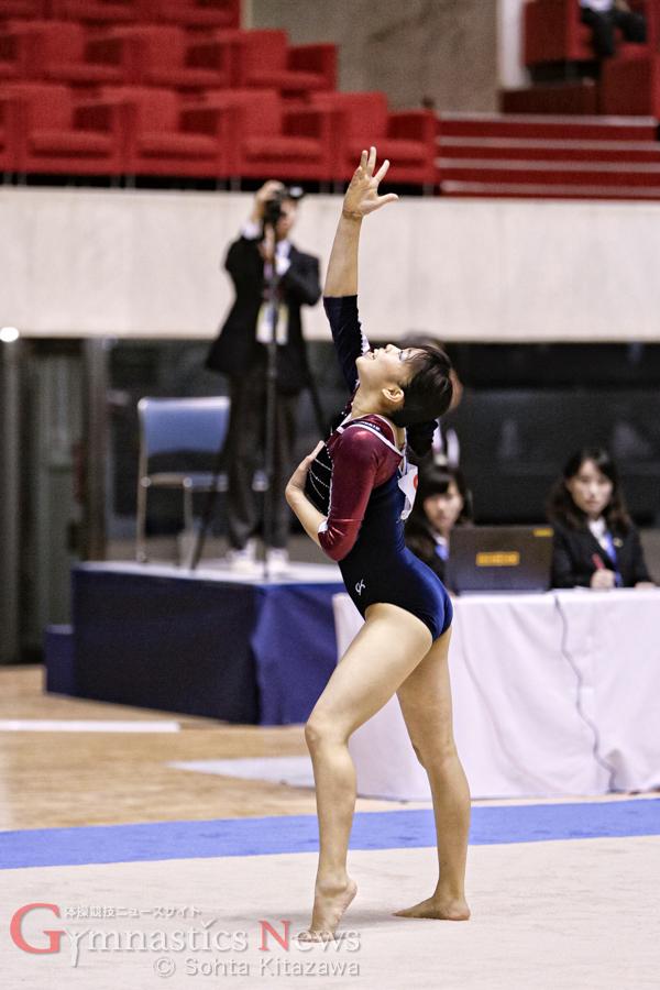 日本体育大学の永井美津穂は3種目に出場し、チームを引っ張った