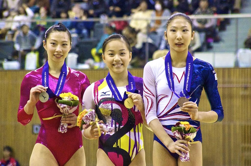 豊田国際2014女子跳馬表彰