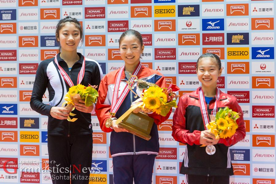女子全日本個人総合表彰台
