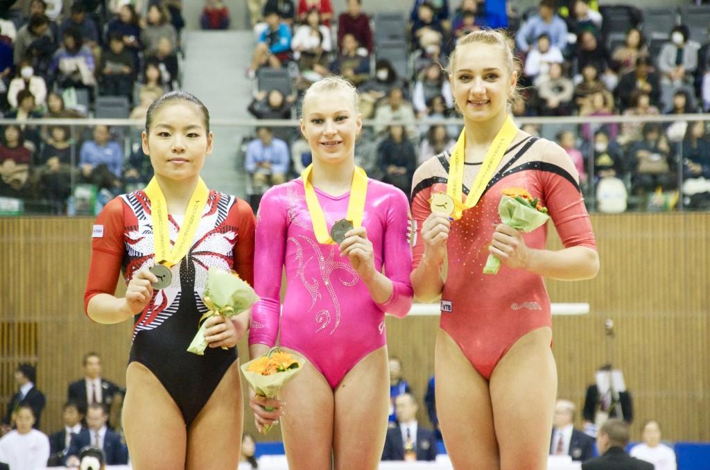 2015豊田国際平均台表彰台