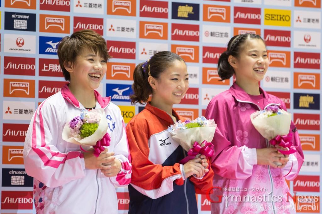 2016NHK杯女子表彰台