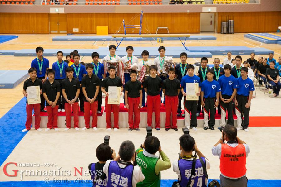 男子団体総合表彰式
