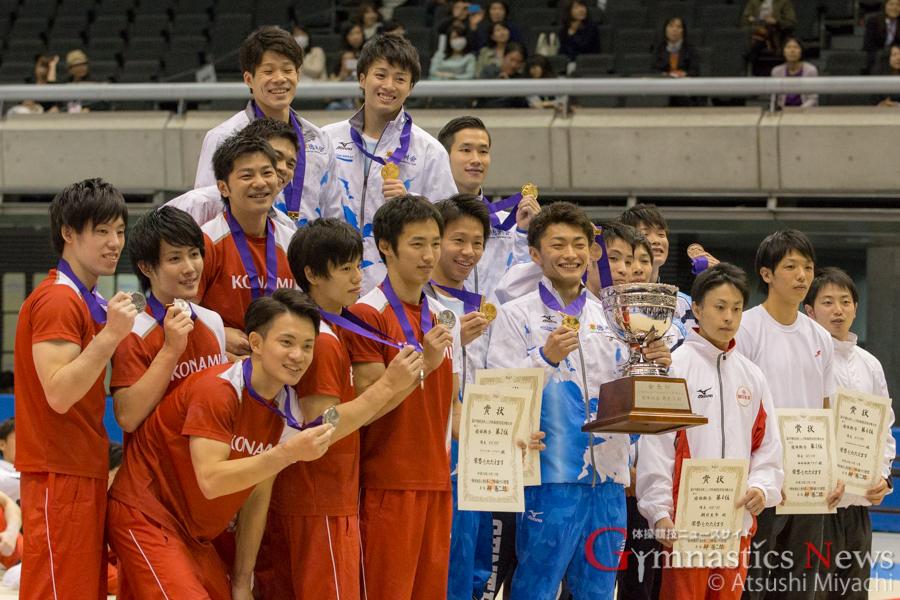 全日本シニア男子団体表彰