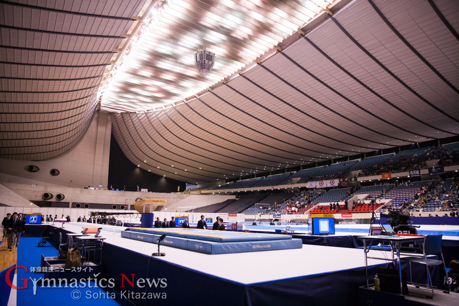 全日本団体会場(代々木第一体育館)