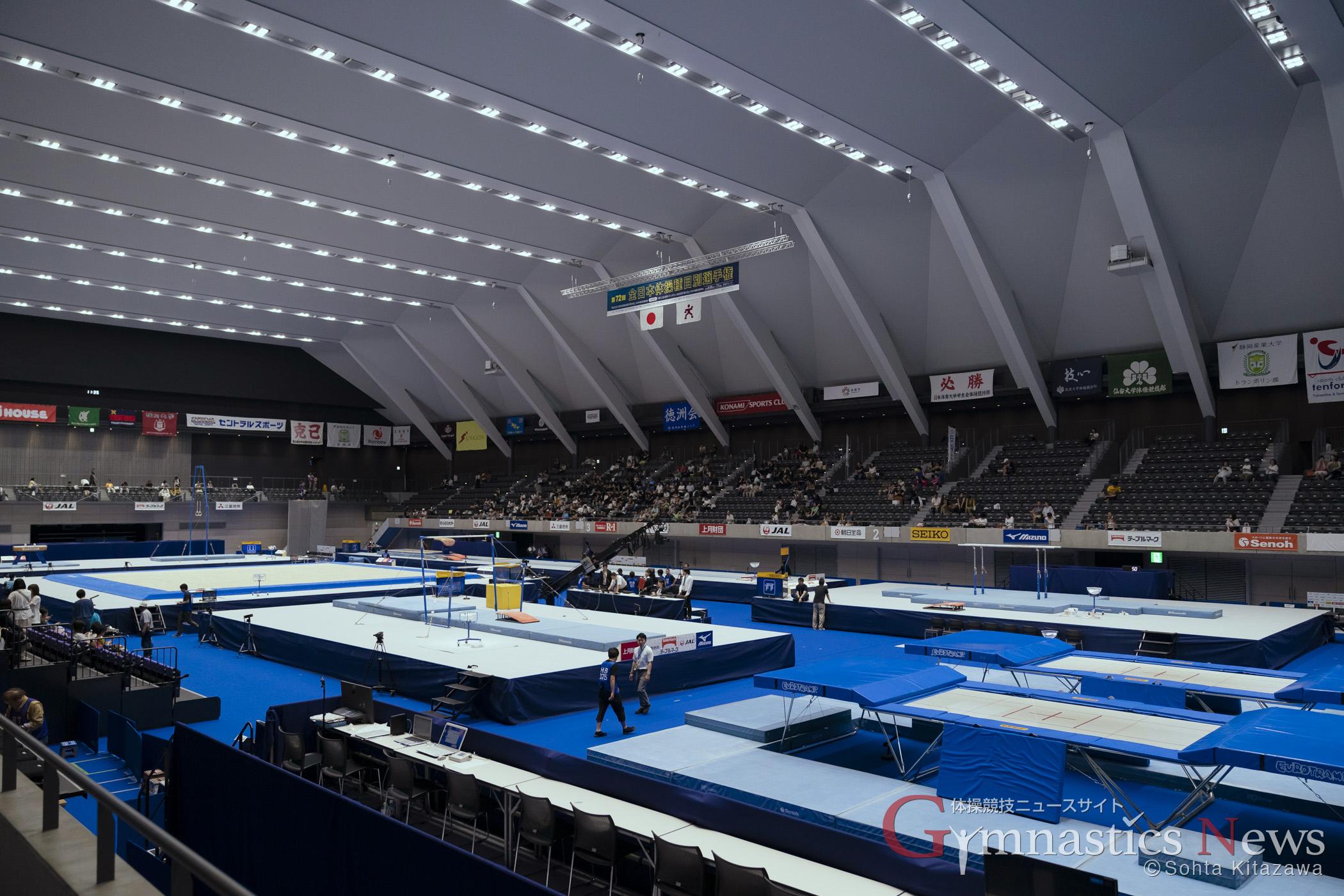 第72回全日本体操競技種目別選手権 高崎アリーナ