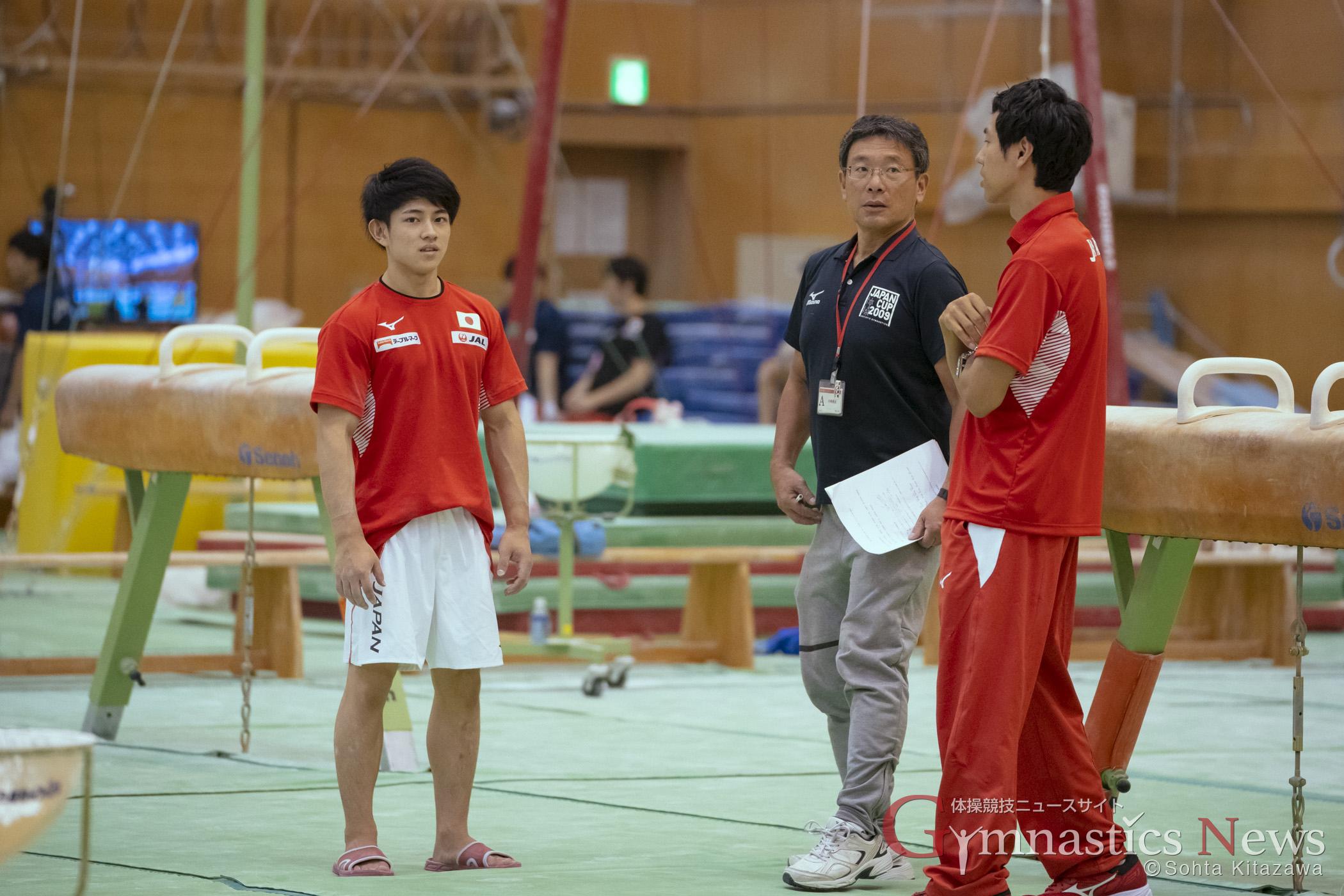 男子体操強化合宿 練習風景