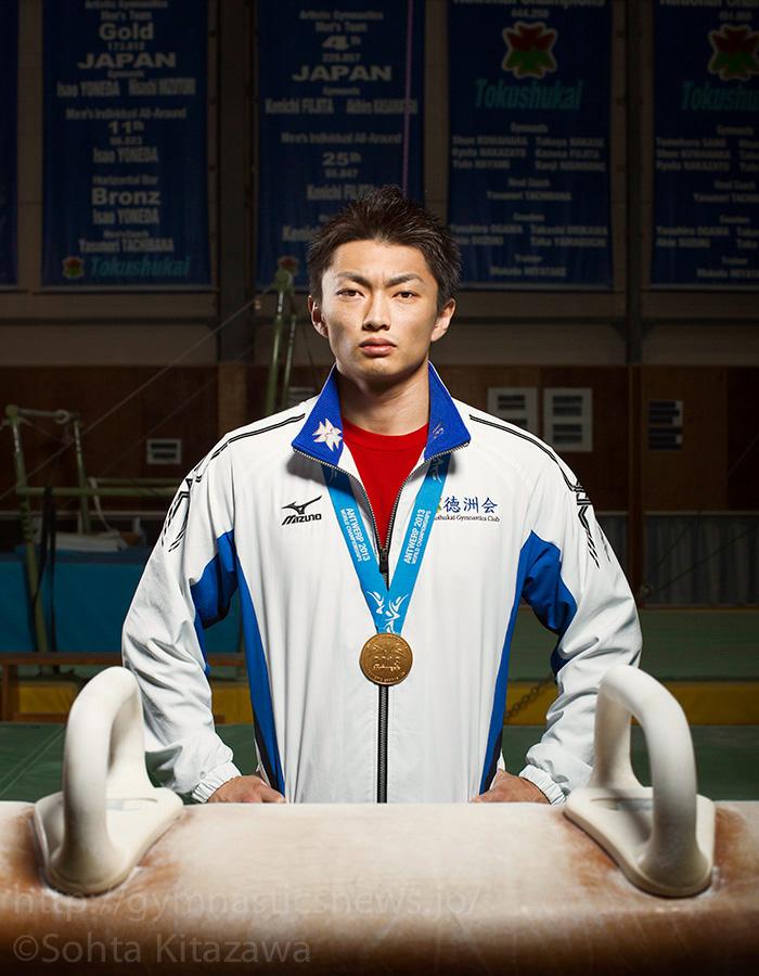 2013年世界選手権あん馬の金メダリスト亀山耕平(徳州会)