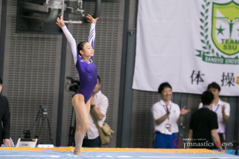 跳馬で優勝を果たした宮川紗江。Eスコアの高さは圧巻だった