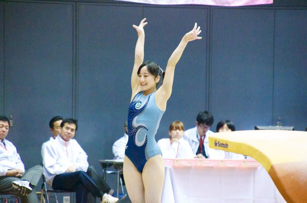 演技後の笑顔が素晴らしい永里杏澄(常磐大学高校)