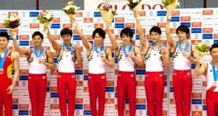 日本男子団体金メダル