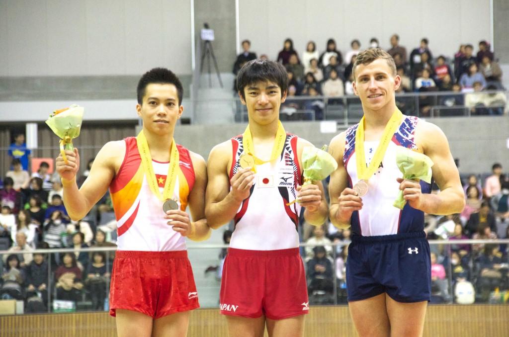 豊田国際2015跳馬表彰台