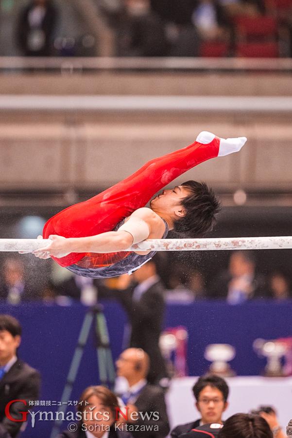 全日本個人総合 千葉健太の平行棒