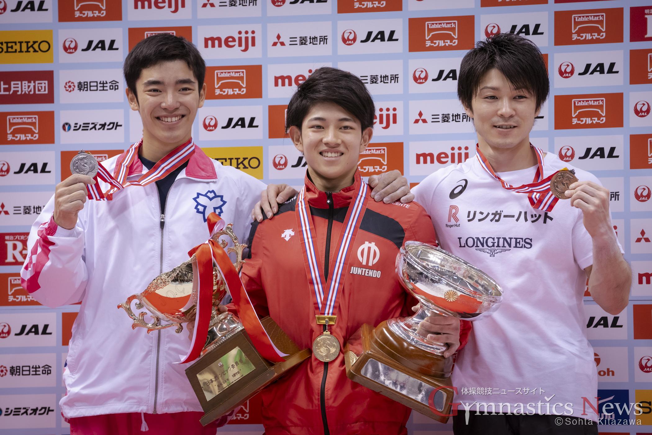 全日本個人総合男子表彰台
