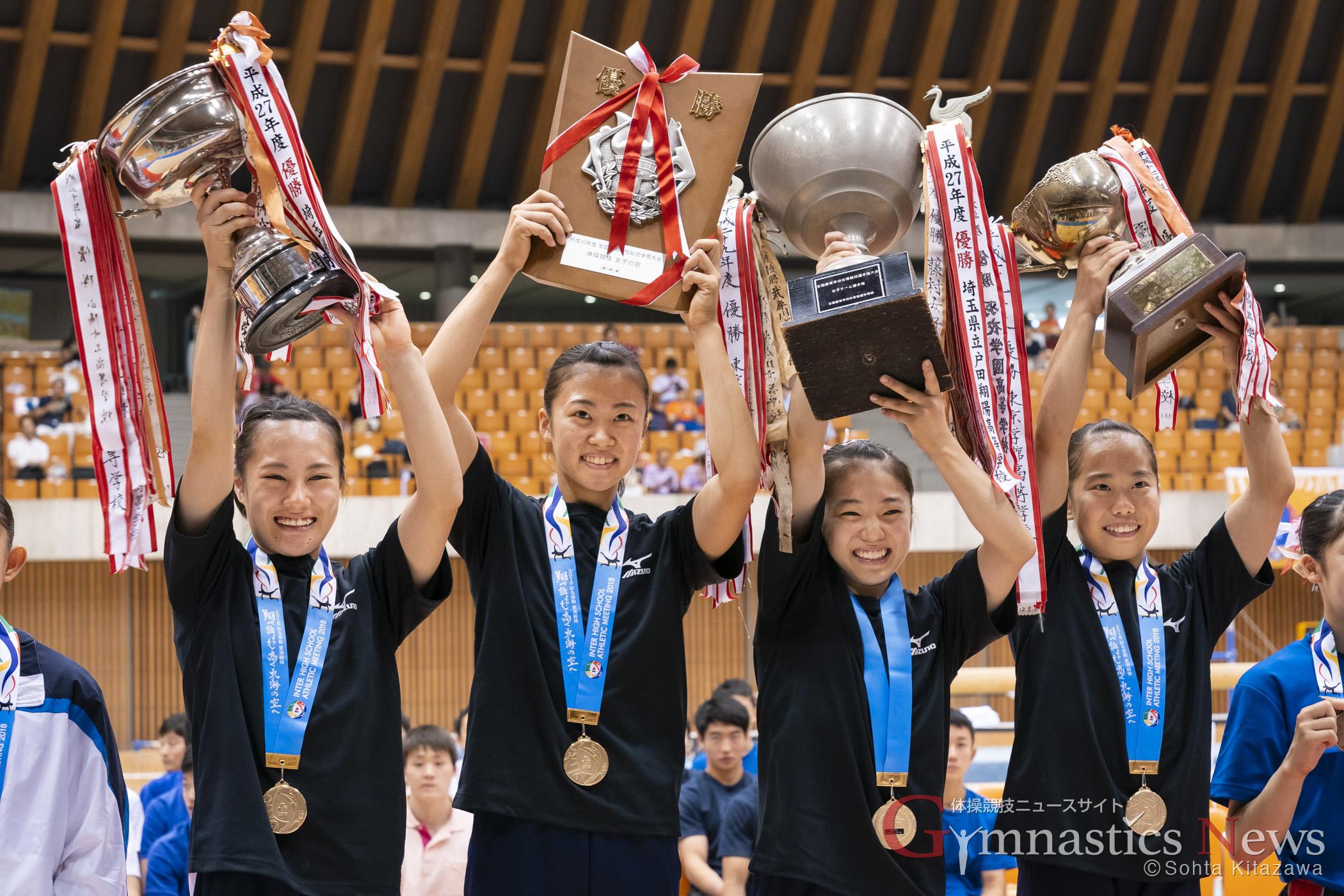 平成30年度全国高等学校総合体育大会 体操競技 女子団体優勝
