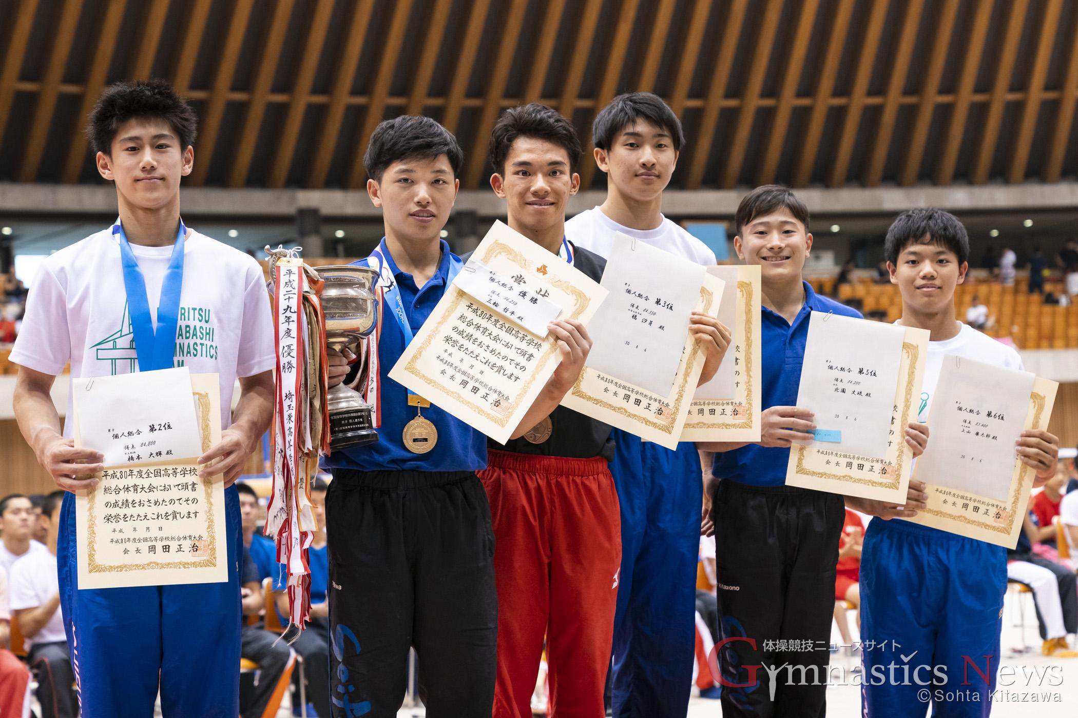 平成30年度全国高等学校総合体育大会 体操競技 男子個人総合