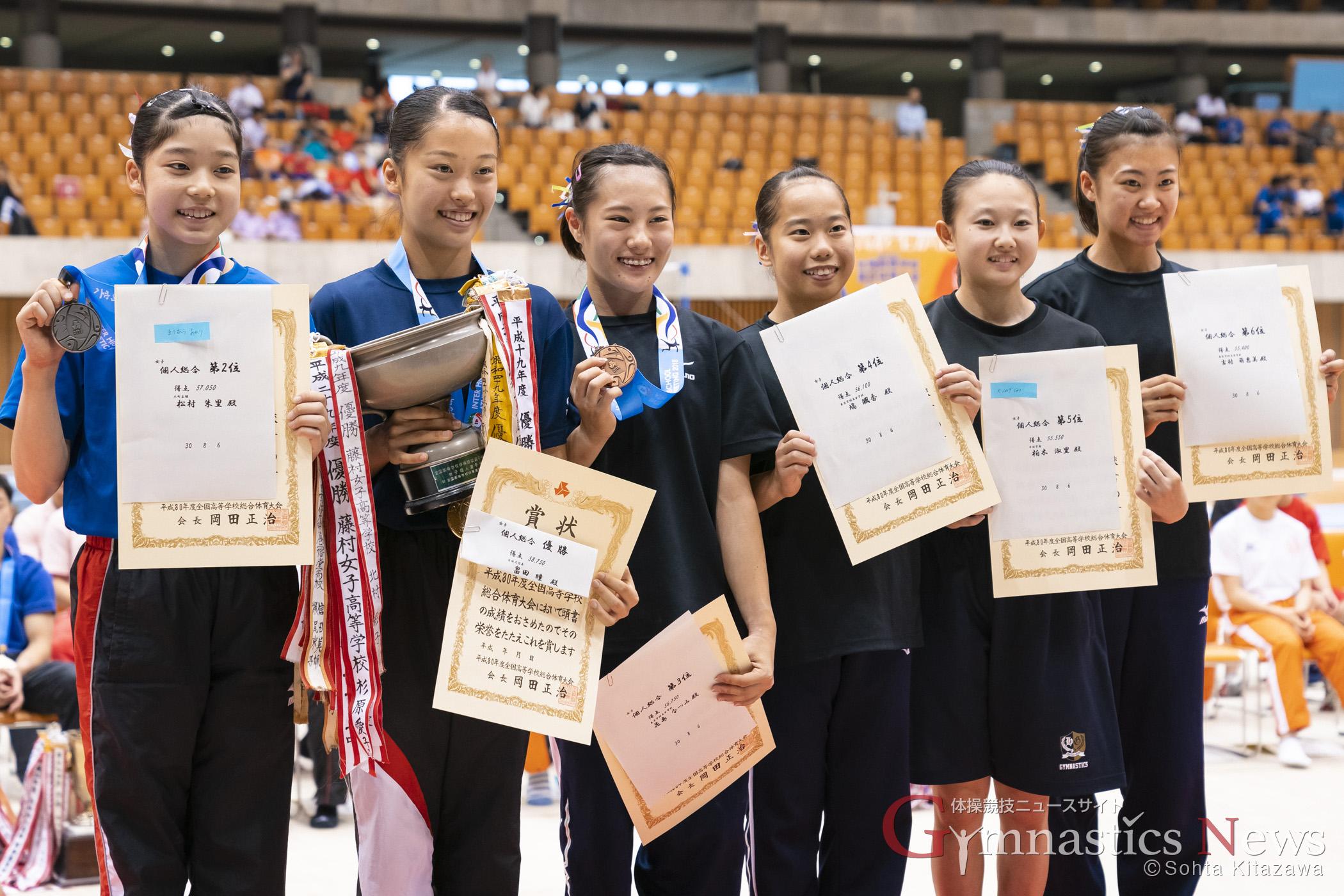 平成30年度全国高等学校総合体育大会 体操競技 女子個人総合