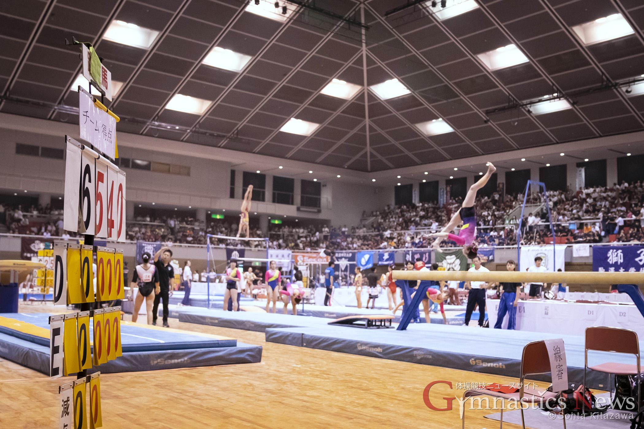 第72回全日本学生体操競技選手権大会 2018 ベイコム総合体育館