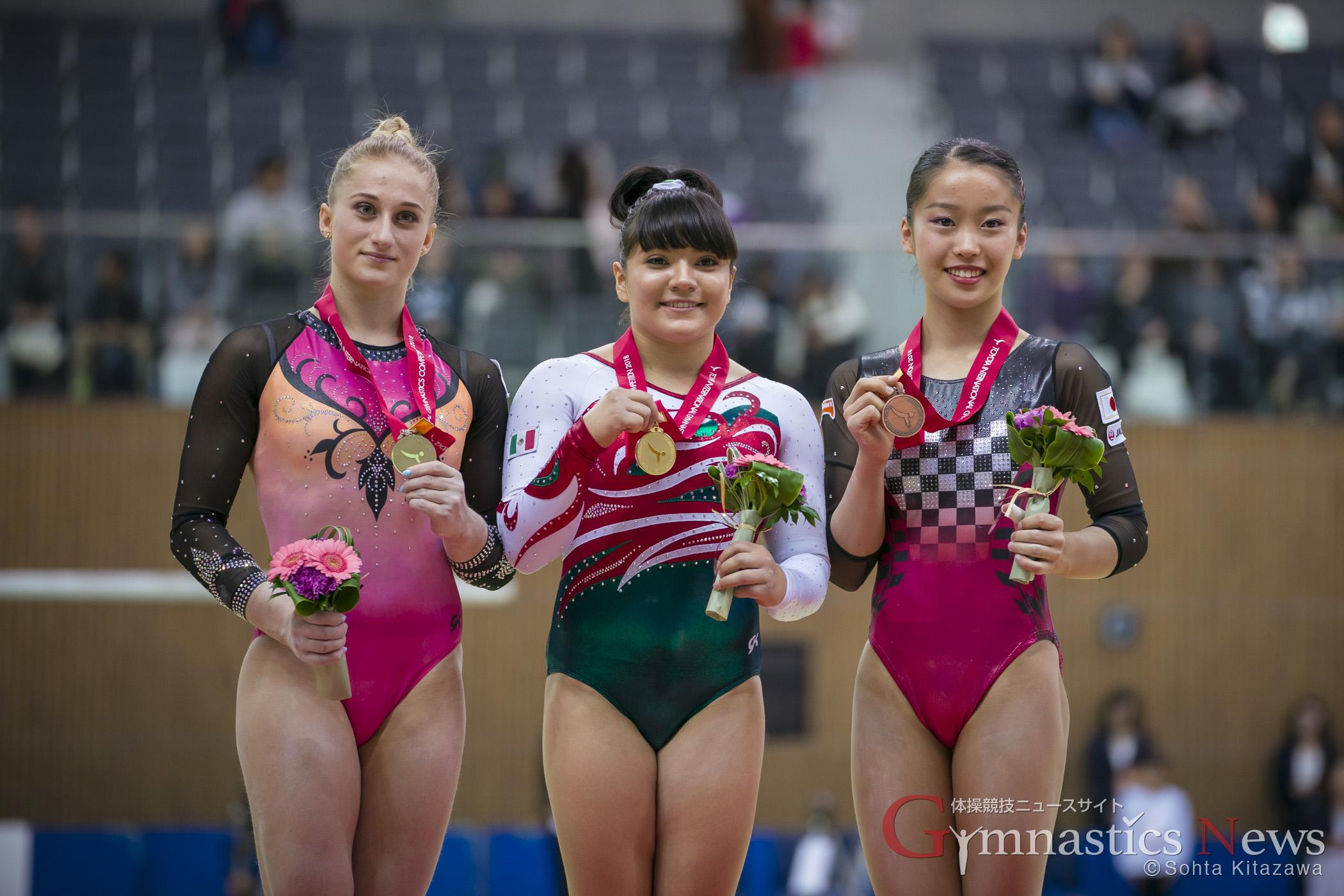 豊田国際 女子 跳馬 表彰